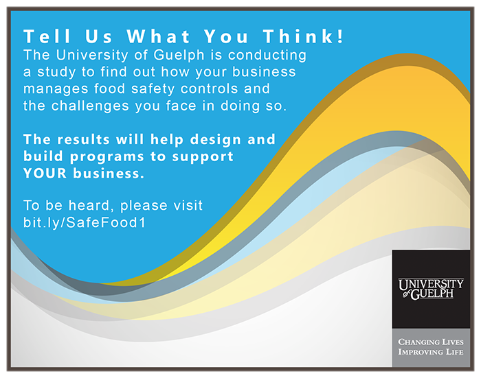 University of Guelph - Food Safety Survey